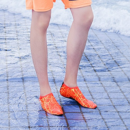 Aqua Jungen Strand für Surf Mädchen Barfuß 2 Wasser Orange Yoga Schwimmen Shoes Unisex JACKSHIBO Herren Schuhe Damen YOqfR