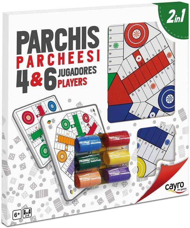 Cayro - Parchís para 4 y 6 Jugadores - Juego de Tradicional - Desarrollo de Habilidades cognitivas - Juego de Mesa (096)