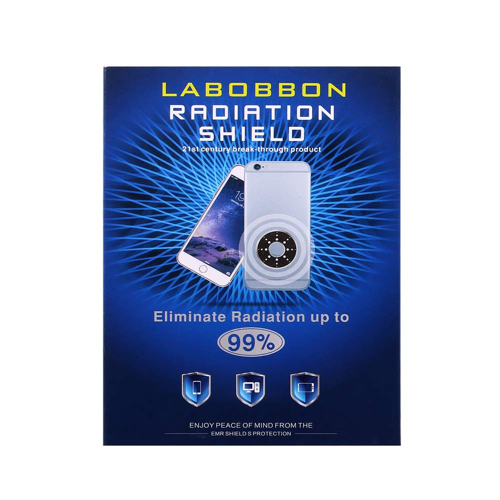 Labobbon Radiation Protection Shield, Best EMF Blocker for Cell Phone/Laptop/ Tablet/Kindle/ Router and More| Protect You and Your Family from Radiation | 1.6 x 1.23 inches, Black