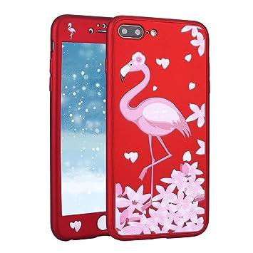 Funda para iPhone 6S 360 Grados Integral Carcasa,iPhone 6 Funda 360 ° con Dibujos Frontal y Trasera Full Body protección Completa Cover + Vidrio ...