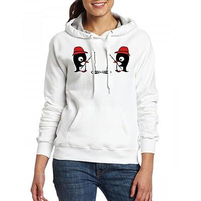 2 pinguine am angeln Womens Hoodie Fleece Custom Sweartshirts
