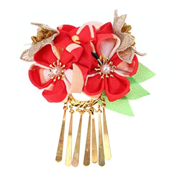 Women/'s Accessory Faux Leather Floral Flower Hair Tie