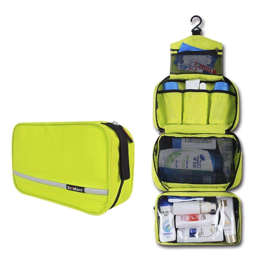 Maxchange Neceser de Viaje para Colgar Compartimentos Impermeable Plegable Bolsa de Aseo