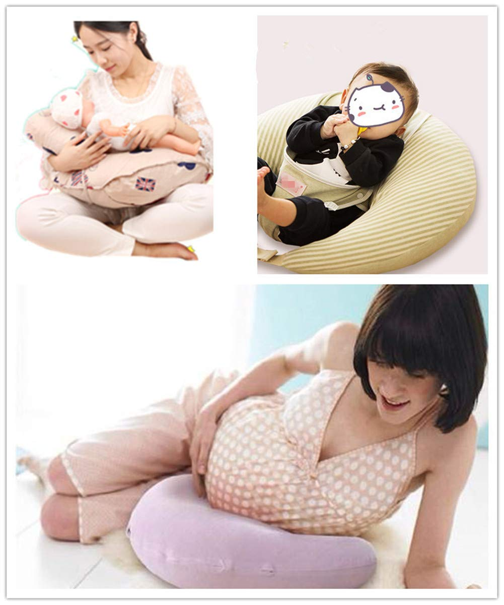 Cloud Portable Firm and Comfy- Newborn Lounger and Positioner Great for Posture and Feeding ERISDOO Baby Nursing Pillow for Breastfeeding- Round Pillow for Newborn and Infant