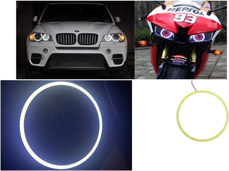 con 24 LED SMD 1210 anello luminoso per auto luce bianca DC 12/V Angel Eyes diametro esterno: 80 mm