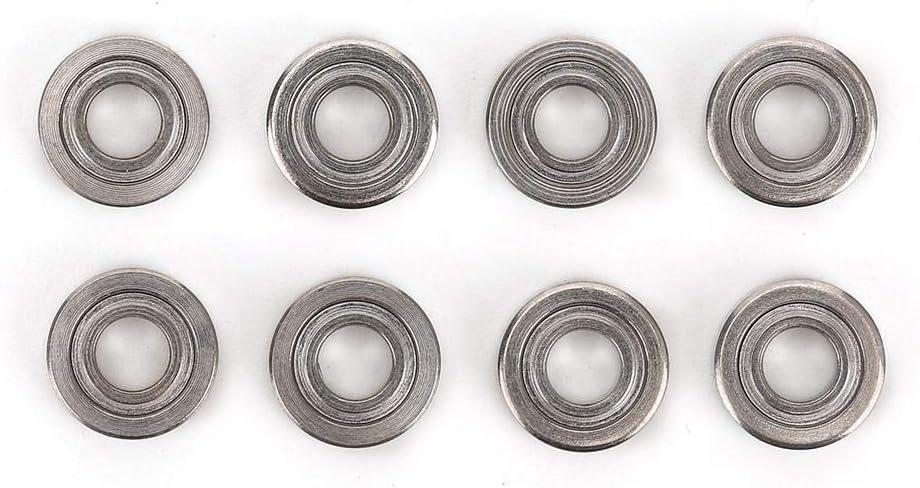 Tbest Rodamiento de Coche RC, 8Pcs Ruedas de Metal Llantas Rodamientos Control Remoto Reemplazo de actualización de rodamiento de Coche para WLtoys 1/28 K969 K989 P929 Coche RC (3 x 7 x 2 mm)