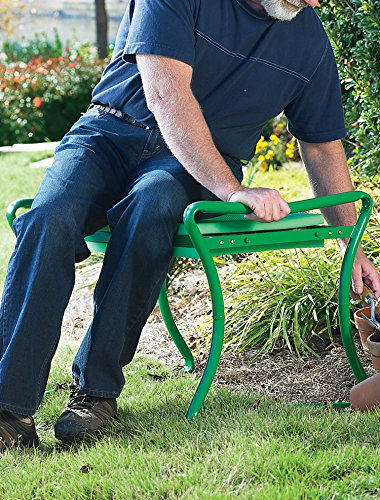 Heavy-Duty Foldable Garden Kneeler/Bench (Green) by LivingXL