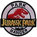 Jurassic Park Movie Patch Logo Mbroidered Iron on Hat Jacket Hoodie Backpack Ideal for Gift / 9.2cm(w) X 8.5cm(h) by Think patch