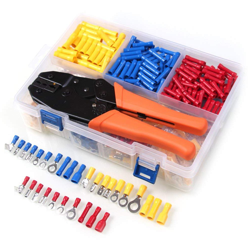Crimper Tool Kit - AWG 22-10 Crimping Pliers Set - with 780 PCS Wire Ferrule Terminals Kit Insulated for Auto and Home Electrical Projects