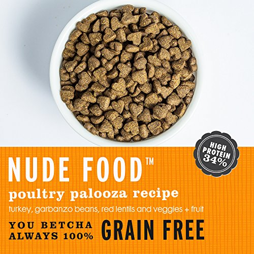 """I and love and you"" Nude Food Poultry Palooza Grain Free Dry Dog Food, 23 LB"