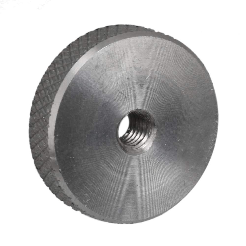 4pcs M4x19.8x5 304 Stainless Steel Silver Knurled Head Flat Thumb Nuts