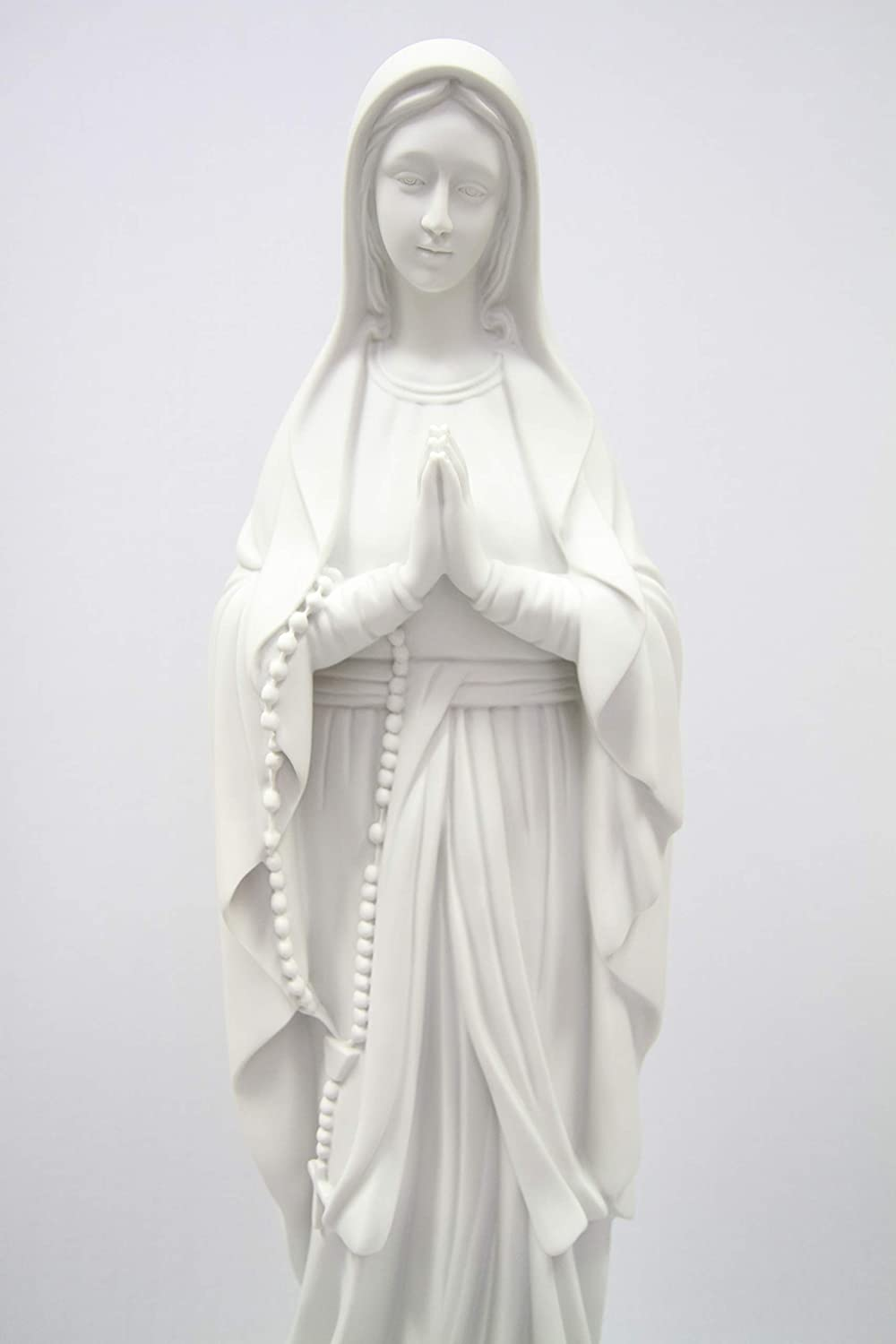 32 Our Lady of Lourdes Blessed Virgin Mary Catholic Statue Sculpture Figure Vittoria Collection Made in Italy Indoor Outdoor Garden