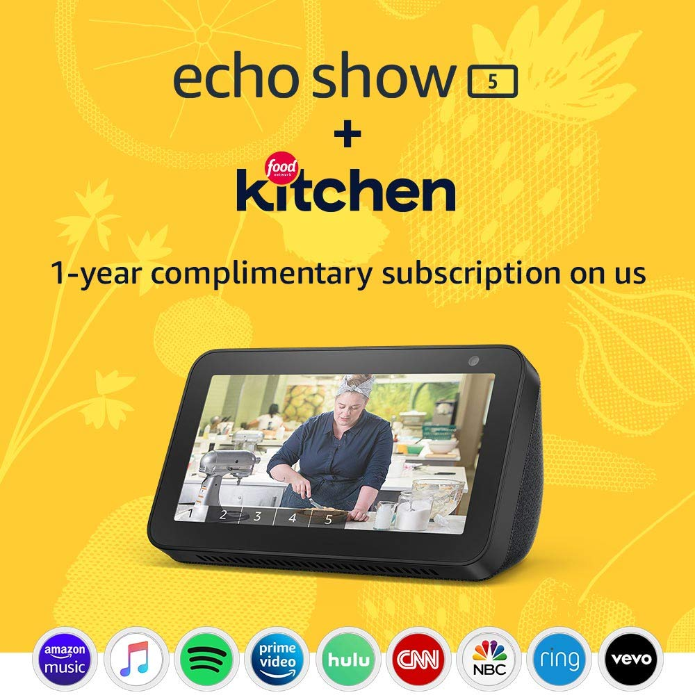 Take $45 off the Echo Show 5 with Food Network subscription