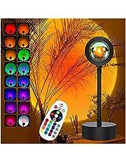 Zonsondergang lamp projector zonsondergang licht, met afstandsbediening 16 kleuren nachtverlichting koel giften van thuis party meisje ruimte omgeving decor