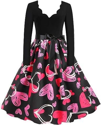 Elegant O-Neck Print Evening Party Prom Swing Dress Womens Vintage Short Sleeve Dresses