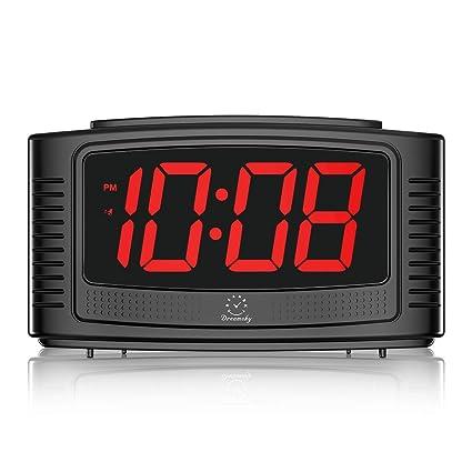 Amazon.com: DreamSky Little Digital Alarm Clock with Snooze, 1.2 ...