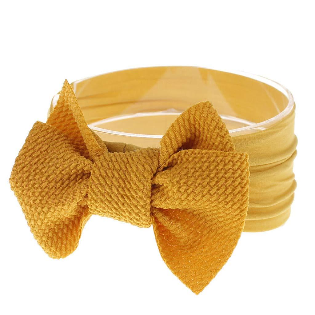 aiyvi 1 St/ück Baby Kleinkind M/ädchen Stirnband Stretch Hairband Headwear Bowknot Zubeh/ör