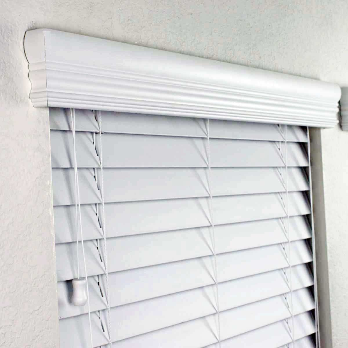 """2/"""" FAUX WOOD PREMIUM BLINDS 26/"""" Width by 24/"""" to 35/"""" Length"""