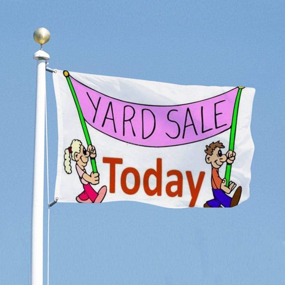 VinMea Funny Flags Yard Sale 2, Decoration Flag for Dorms Room Garden Yard 3x5 Feet / 35x59 Inch
