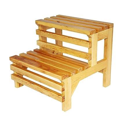 Fine Amazon Com Step Stool Shoe Bench Wooden Barrel Bath Step Machost Co Dining Chair Design Ideas Machostcouk