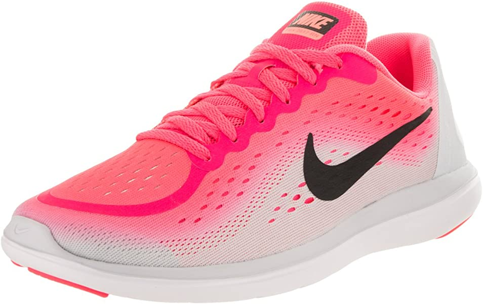 c0a38f8662b6 Nike Girl s Flex RN 2017 (GS) Running Shoe Racer Pink Black Pure