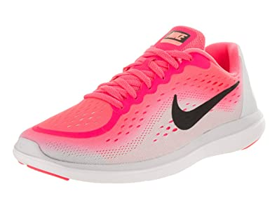 Nike Girl's Free RN 2017 (GS) Running Shoe (White, 5)