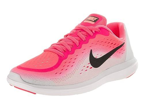 c2eaf9fb2771 Nike Kids Flex 2017 Rn (GS) Racer Pink Black Pure Platinum Running Shoe 7  Kids US  Amazon.co.uk  Shoes   Bags