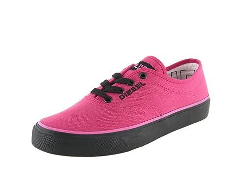 DIESEL Zapatillas Deportivas de Mujer Zapatos De Cordones Botas Rosa - Rojo, EU 39: Amazon.es: Zapatos y complementos