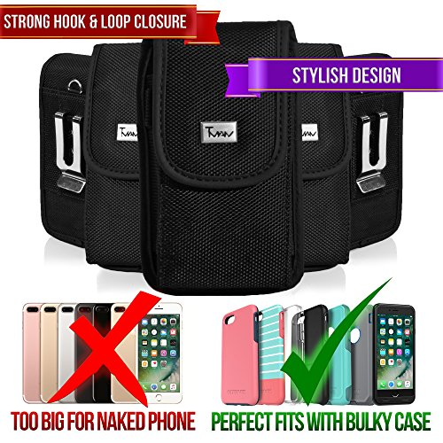 Rugged Case for BLU Vivo 5R, TMAN Premium Vertical Pouch Protective Carrying Holster with Belt Clip (Fits with Otterbox, Lifeproof, Waterproof, Battery and Other Armor Case) -  ACGoods
