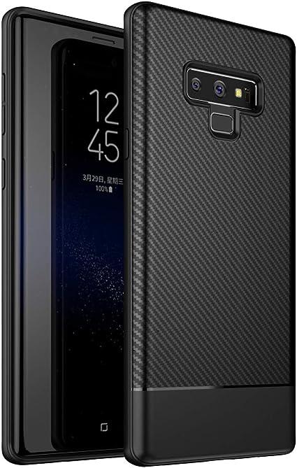 ZSCHAO Funda Galaxy Note 9 Fibra de Carbono + Cristal Templado ...