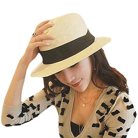 287c58bc3eb Paladoo Womens Floppy Summer Sun Hat Beach Cap Wide Brim Straw Hats
