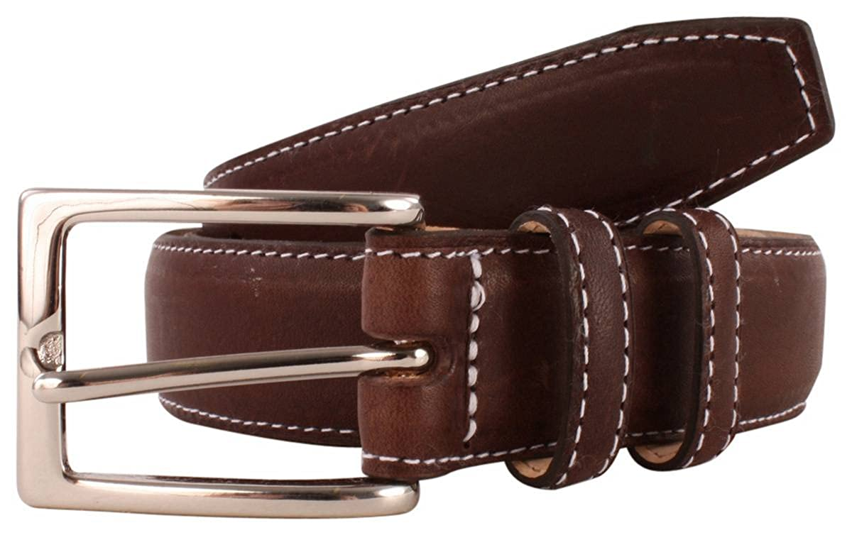 Brown Bassin and Brown Mens Leather Belt