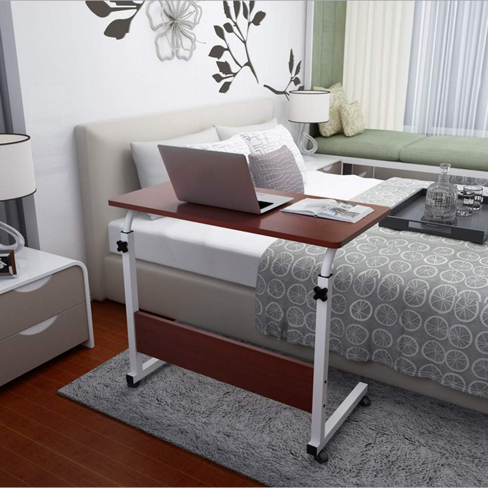 US Fast Shipment Jiayit Adjustable Overbed Bedside Table with Wheels,Swivel Wheel Rolling Tray Table,Over Bed Laptop, Reading, Eating Breakfast - Low High Cart - Bedridden, Elderly, Senior Patient Aid