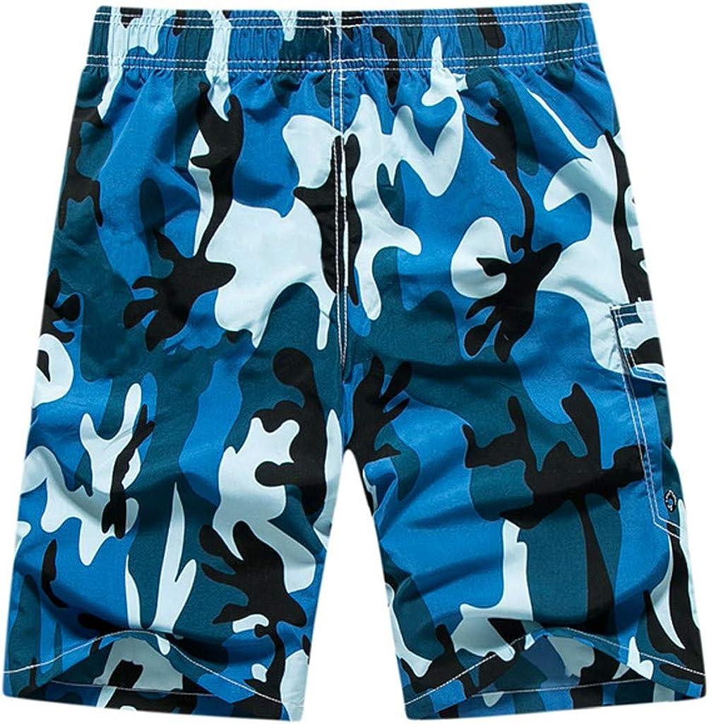 Pantalones Cortos Hombre Verano 2019 Nuevo SHOBDW Tallas Grandes Pantalones de Playa Ba/ñador Cord/ón Suelto Pantalones Hombre Camuflaje Casual Pantalones Cortos Hombre Deporte