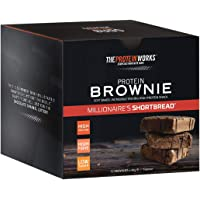 The Protein Works Protein Brownies, Millionaire's Shortbread, Box of 12