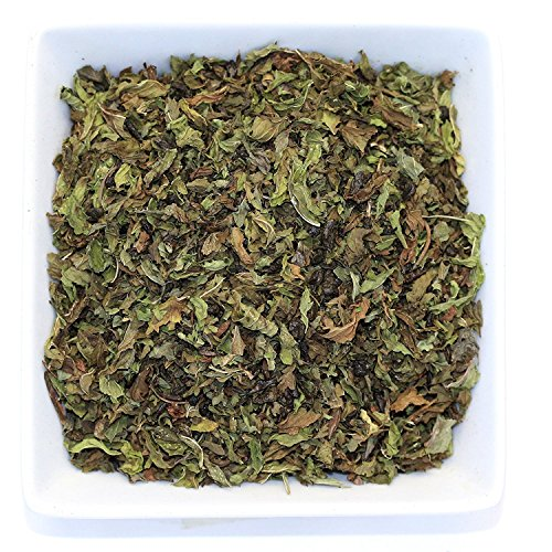 Tealyra - Moroccan Mint - Gunpowder - Peppermint - Spearmint - Famous Green Loose Leaf Tea - Caffeine Level Low - Hot or Iced Tea - All Natural - 110g (4-ounce)