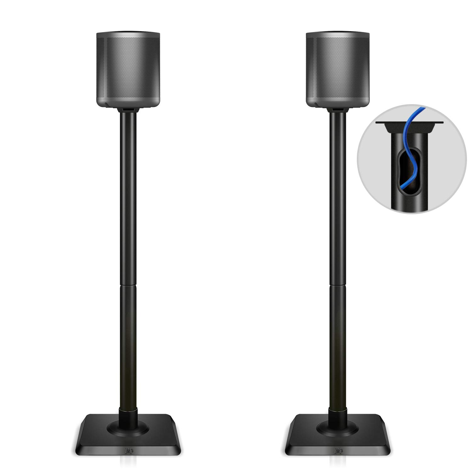 Mounting Dream Speaker Stand Pair for Home Theater Surround Sound Satellite Speakers, Set of 2 Floor Stand Mounts Built-in Cable Management Universal compatibility with 11LBS Capacity Per Stand MD5402