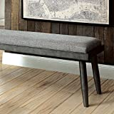 Furniture of America CM3360BN Vilhelm I Gray Bench Seating