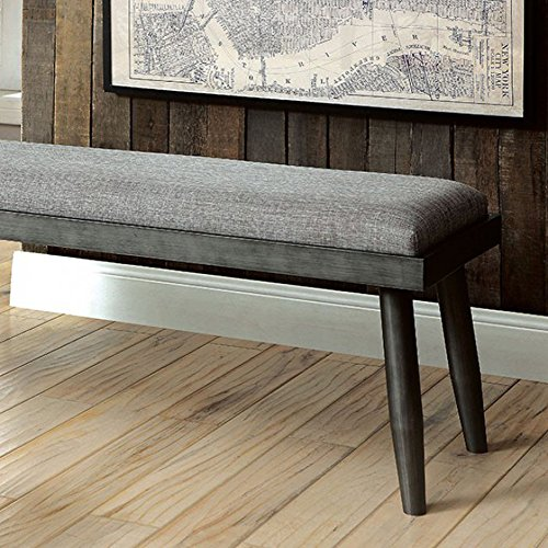 Furniture of America CM3360BN Vilhelm I Gray Bench Seating by Furniture of America