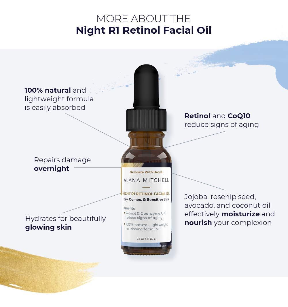 Amazon.com: Aceite facial antienvejecimiento de retinol y ...