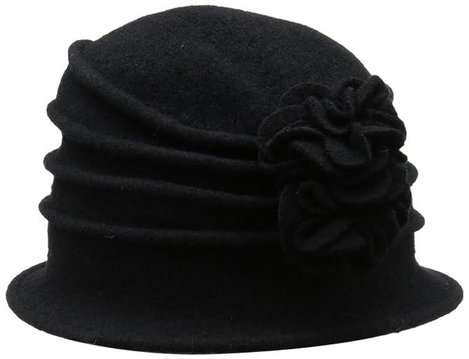 c19fcfae3dd Scala Women s Boiled Wool Cloche with Rosettes