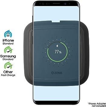 ZENS Qi-Certificado Quick Charging Wireless Pad 10W Negro, soporta ...
