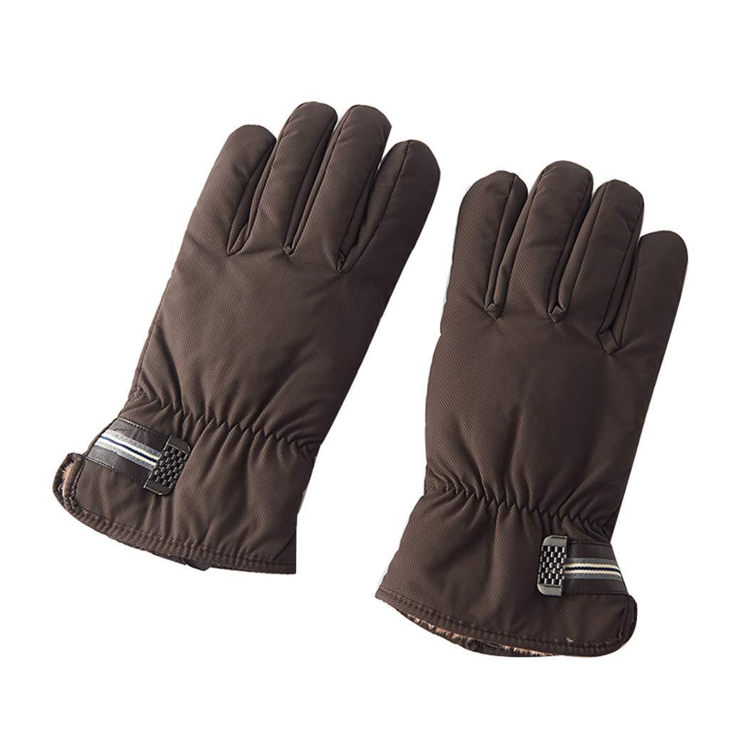 LRZLZY A Prueba de Viento de de Viento los Hombres cálidos más Guantes de Espesamiento de Terciopelo al Aire Libre Montar algodón Coreano frío Invierno Guantes (Color : Marrón) 8f50e4
