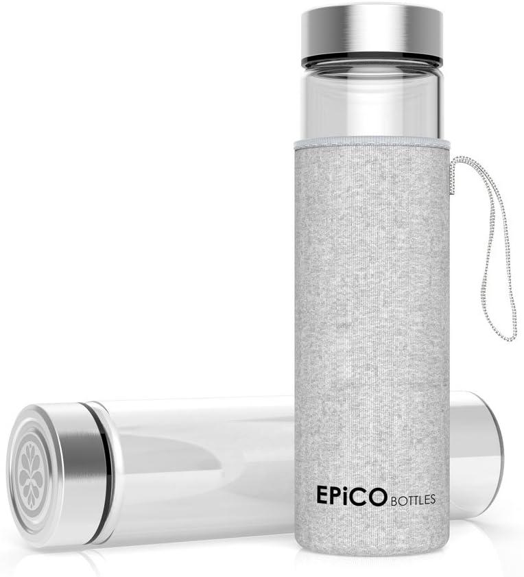 EPiCO BOTTLES Clásica 600 ml | Botella de Cristal | Botella de ...