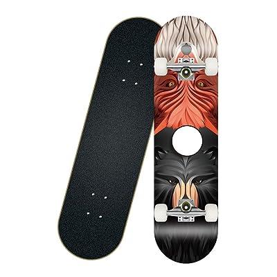 4 Wheel Double Rocker Maple Beginner Brush Street Skateboard Deck Infernal Affairs 802010cm : Sports & Outdoors