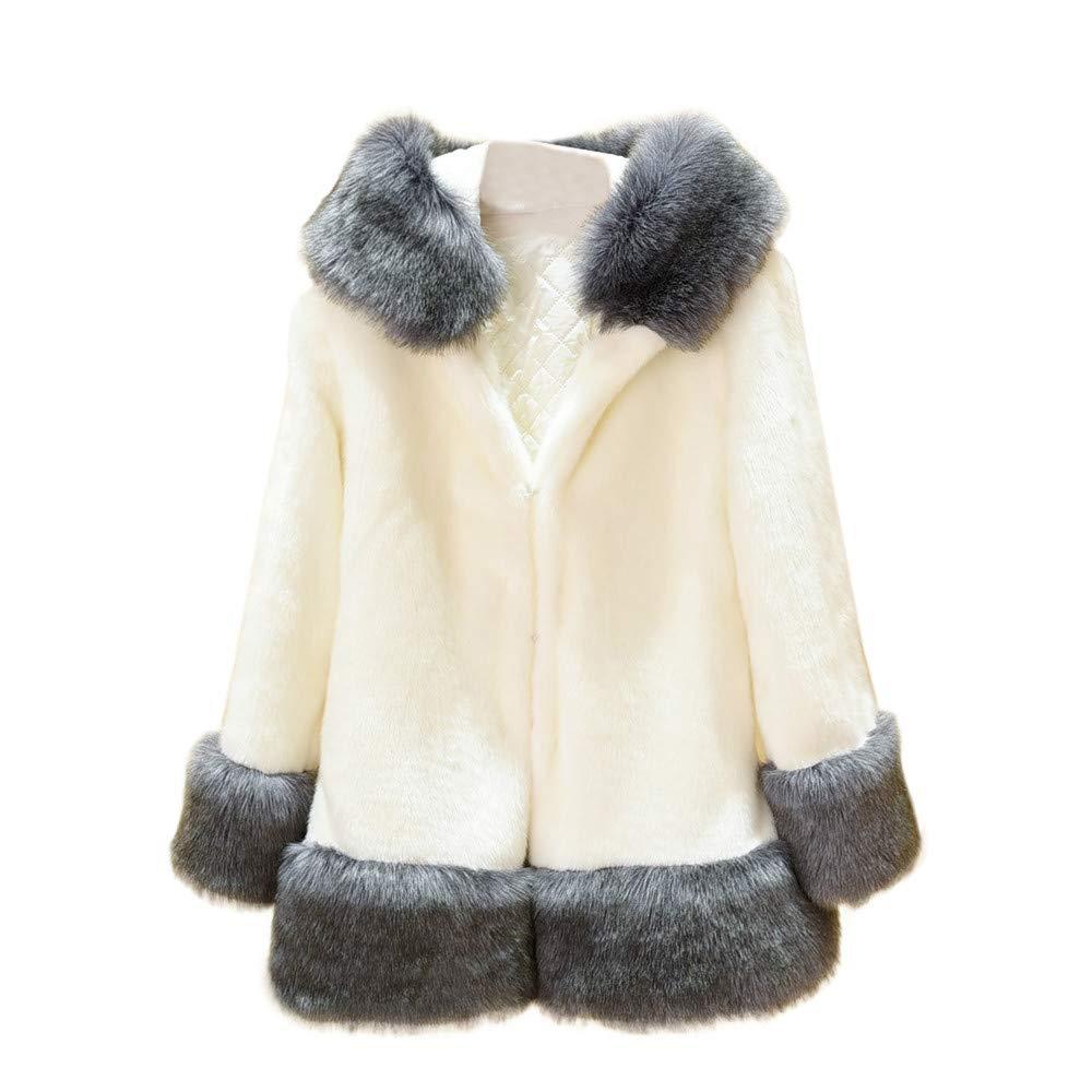 Corriee Womens Hooded Coat Clearance, Fashion Shaggy Faux Fur Plus Size Parka Jacket Hoodies for Women Winter Outwear