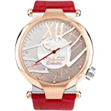 Mulco Enchanted Spider Quartz Slim Analog Swiss Movement Unisex Watch | Special Metal Insert Design Sundial Display with Rose Gold Accents | Leather Watch Band | Water Resistant