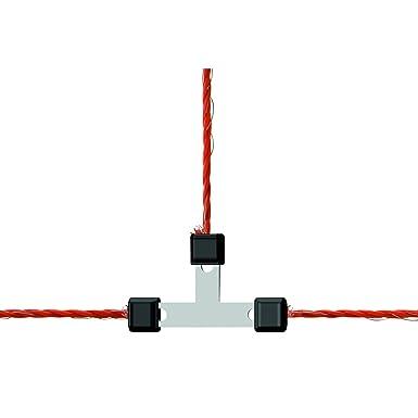 Corral Koppel Draht T-Konnektor galvanisierter Litzclip (3mm x 5 ...