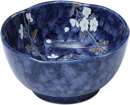 colore: Blu Y YHY grandi ciotole da portata e piatti da 850 ml Set di 6 ciotole in porcellana per insalata zuppa