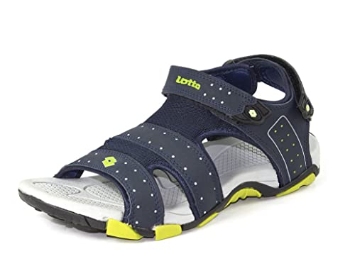 7ed725c2ea5926 Lotto Men s Navy Grey Sandals and Floaters  Buy Online at Low Prices ...